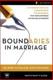Boundaries in Marriage Part Gde, Henry Cloud and John Townsend, 0310246156