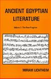 Ancient Egyptian Literature, Miriam Lichtheim, 0520036158