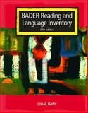 Reading and Language Inventory, Bader, Lois, 0131196170