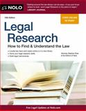 Legal Research, Stephen Elias and Nolo Press Editors, 1413316182