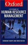 A Dictionary of Human Resource Management 9780198296188