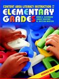 Content Area Literacy Instruction for the Elementary Grades, Alvermann, Donna E. and Swafford, Jeanne, 0205366198