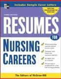 Resumes for Nursing Careers, McGraw-Hill Staff, 0071476202