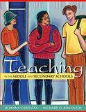 Teaching in the Middle and Secondary Schools, Carjuzaa, Jioanna D. and Kellough, Richard D., 0132696207