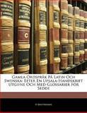 Gamla Ordspråk På Latin Och Swensk, H. Reuterdahl, 1141596237