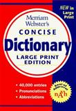 Merriam-Webster's Concise Dictionary, Merriam-Webster, Inc. Staff, 0877796246