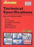 2004 Domestic Technical Specification Manual (1994-03), Autodata Publications, Inc Staff, 1893026248