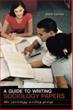 A Guide to Writing Sociology Papers, Richlin-Klonsky, Judith and Strenski, Ellen, 071677626X