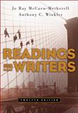 Readings for Writers, McCuen-Metherell, Jo Ray and Winkler, Anthony C., 1413016294