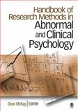 Handbook of Research Methods in Abnormal and Clinical Psychology, McKay, Dean, 1412916305