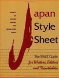 Japan Style Sheet, Society of Writers, Editors, and Translators, 1880656302
