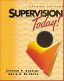 Supervision Today, Robbins, Stephen P. and Decenzo, David A., 0136086306