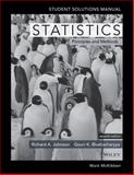 Statistics Student Solutions Manual, Johnson, Richard A., 1118616316