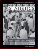 Statistics Student Solutions Manual, Johnson, Richard A., 1118616316
