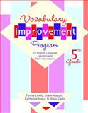 Vocabulary Improvement Program for English Language Learners and Their Classmates, 5th Grade, Lively, Teresa and August, Diane, 1557666326