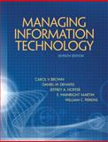 Managing Information Technology, Brown, Carol V. and DeHayes, Daniel W., 0132146320