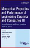 Mechanical Properties and Performance of Engineering Ceramics and Composites III 9780470196335