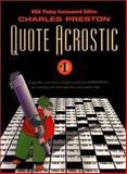 Quote Acrostic, Charles Preston, 0399526331