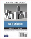 Modern Management : Concepts and Skills, Student Value Edition, Certo, Samuel C. and Certo, Trevis, 0132176343