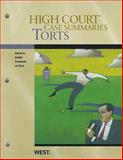 Torts, Keyed to Dobbs, West Law School, 0314266348