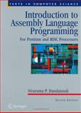 Introduction to Assembly Language Programming : For Pentium and RISC Processors, Dandamudi, Sivarama, 0387206361