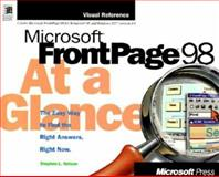 Microsoft Frontpage 98 at a Glance, Stephen Nelson, 1572316373