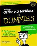 Microsoft Office V. 10 for Macs for Dummies, Tom Negrino, 0764516388