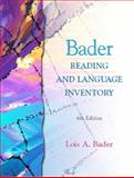Bader Reading and Language Inventory and Readers Passages Package, Bader, Lois A., 0130656399