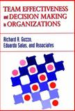 Team Effectiveness and Decision Making in Organizations, Guzzo, Richard A. and Salas, Eduardo, 1555426417