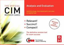 CIM Revision Cards Analysis and Evaluation, Beamish, Karen, 0750686421