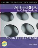 Mp : Algebra for College Students w/ MathZone, Dugopolski, Mark, 007301642X