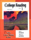 College Reading with the Active Critical Thinking Method, Maker, Janet and Lenier, Minnette, 0155066447