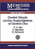 Graded Simple Jordan Superalgebras of Growth One, Victor G. Kac and C. Martinez, 082182645X