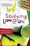 Studying Law at University, Simon Chesterman and Clare Rhoden, 1741146453
