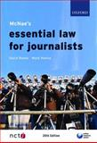 McNae's Essential Law for Journalists, Banks, David and Hanna, Mark, 0199556458