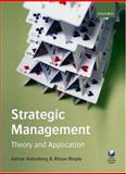Strategic Management : Theory and Application, Haberberg, Adrian and Rieple, Alison, 0199216460