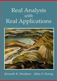 Real Analysis with Real Applications, Davidson, Kenneth R. and Donsig, Allan P., 0130416479