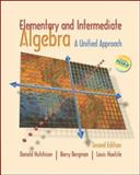 Elementary and Intermediate Algebra : A Unified Approach with MathZone, Hutchison, Donald and Bergman, Barry, 0073016489