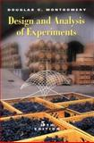Design and Analysis of Experiments, Montgomery, Douglas C., 0471316490