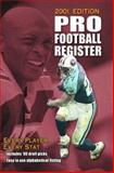 Pro Football Register, 2001 Edition, Walton, David, 0892046503