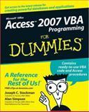 Access 2007 VBA Programming for Dummies, Alan Simpson and Joseph C. Stockman, 0470046538