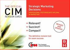 CIM Revision Cards Strategic Marketing Decisions, Beamish, Karen, 0750686553