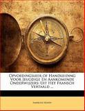 Opvoedingsleer of Handleiding Voor Jeugdige en Aankomende Onderwijzers, Ambroise Rendu, 1141756609