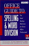 Office Guide to Spelling and Word Division, Margaret A. Haller, 0671896636