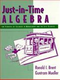 Just in Time Algebra for Students of Calculus in Management and the Lifesciences, Brent and Mueller Ron, Ron, 0201316668