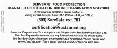 Servsafe Food Protection Manager Certification Online Examination Voucher, National Restaurant Association Staff, 0135026695