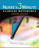 Nurse's 3-Minute Clinical Reference, Springhouse, 1582556709