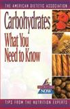 Carbohydrates, American Dietetic Association Staff, 0471346705