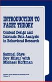 Introduction to Facet Theory 9780803956711