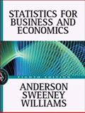 Statistics for Business and Economics, Anderson, David R. and Sweeney, Dennis J., 0324066716